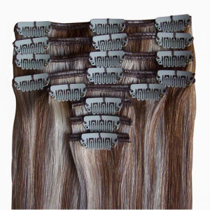Highest Quality Brazilian Virgin Remy Clip in Human Hair pictures & photos