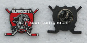 Customized Cut to Shape Lapel Pin in Black Nickel (PN095)