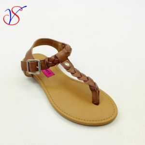 Sex Fashion Flat Women Lady Sandals Shoes Slipper for Socially Business Sv-Wf-017 pictures & photos