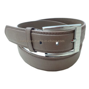 Fashion Laser Buckle Good Quality PU Leather Belt for Man pictures & photos