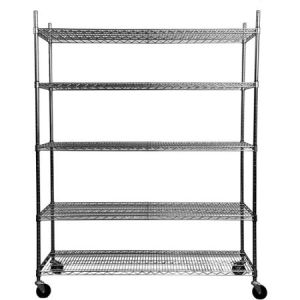 Chrome Plated Carbon Steel Mobile Wire Shelving Storage Rack pictures & photos