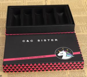 Fashion Cosmetics Packaging Box with Black Tray pictures & photos