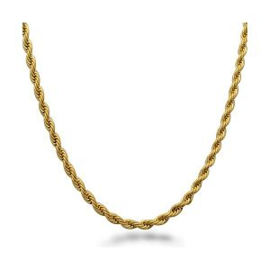 Stainless Steel Gold Plated Rope Chain Necklace pictures & photos