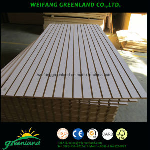 Slotted MDF Board 1220X2440mm Melamine Finish pictures & photos
