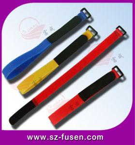 Reusable 100% Nylon Plastic Buckle Hook & Loop Strap (FS-908)