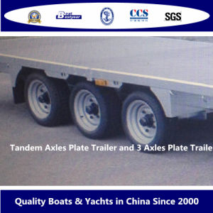 Tandem Axles Plate Trailer and 3 Axles Plate Trailer pictures & photos