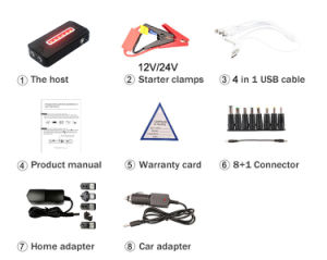 Rechargeable Power Bank Multi-Function Jump Starter pictures & photos