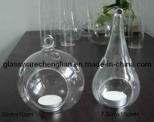 High Borosilicate Glasse Camdle Holder (ZT-34) pictures & photos