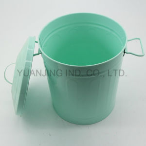 Metal Household Rubbish Bin Storage Can Container with Lid Powder Coating pictures & photos