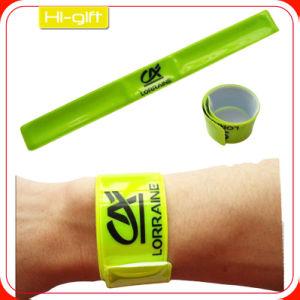 Custom PVC Reflective Slap Wristband (M005)