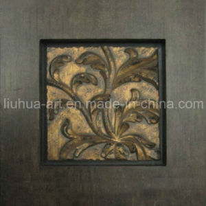 Handmade Painting Abstract Gold Foil Leaves Oil Painting (603576) pictures & photos