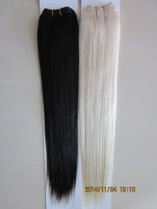 European Virgin Remy Lightest Blonde Color Human Hair Weft pictures & photos