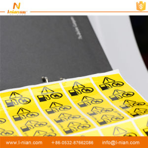 Custom Printing Caution Labels Pipe Stickers pictures & photos