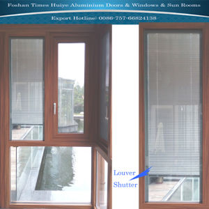 Shutter Window Made with Aluminium Profile Material pictures & photos