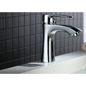 Sanitary Bathroom Brass Deck Mounted Basin Mixer Water Tap and Faucet pictures & photos