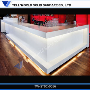 Hot Sale High Gloss Club LED Commercial Bar Counter Design pictures & photos