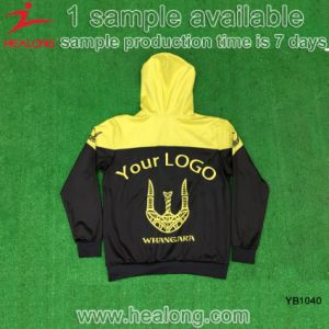 Healong Polyester Full Sublimation No Sleeve with Cap Hoody Sweater pictures & photos