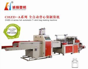 Double Lines T-Shirt Bag Bag Making Machine pictures & photos