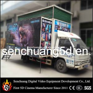 2014 Hotest Amusement and Entertainment Theater Truck Mobile 5D/6D/7D Motion Cinema for Sale