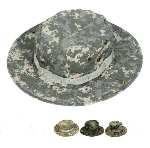 JS1 Woodland Camo Military Boonie Hunting Army Fishing Bucket Jungle Cap Hat