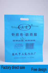 Ultrasonic Non-Woven Flat Pocket Without Bottom Side pictures & photos
