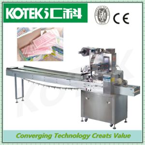 Horizontal Flow Biscuit Stick Wrapping Equipment Pillow Packing Bag Automatic Rice Cracker Wrapper Machine pictures & photos