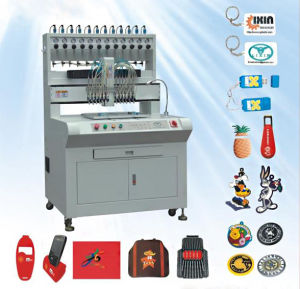 Fully Automatic Liquid Dispensing Machine for Keychains, Labels, Carmats pictures & photos