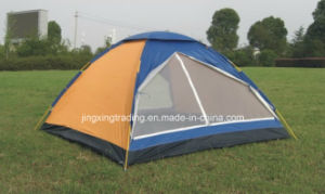 3 Person 180t 100% Water Proof Polyester Camp Tent (JX-CT002) pictures & photos