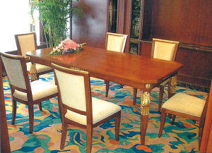 Hotel Dining Room Chair Table Set Furniture (D02)