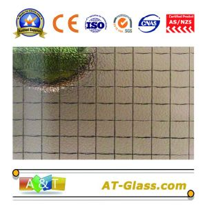3mm, 4mm, 5mm, 6mm Green/Grey/Blue-Nashiji-Wired Patterned Glass/Tinted Patterned Glass pictures & photos