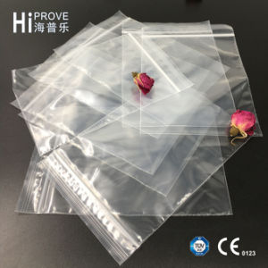 Ht-0886 Grip Seal Bags with Write on Panel Self Seal Resealable Clear Polythene Plastic pictures & photos