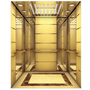 Passenger Elevator with Luxury Decoration Cabin pictures & photos