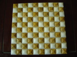 Yellow and White Marble Stone Mosaic