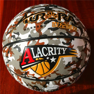 Basketball Customized Wear-Resisting Quality Cheap 8pieces 4#5#6#7# PU Sg5114 Camouflage Pattern Basketball pictures & photos