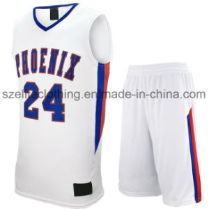 Custom Made White Basketball Uniforms for Game (ELTLJJ-86) pictures & photos