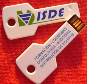 White Color Key USB Flash Drive pictures & photos