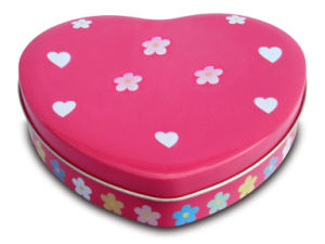 2017 Pink Heart-Shaped OEM Gift Tin pictures & photos