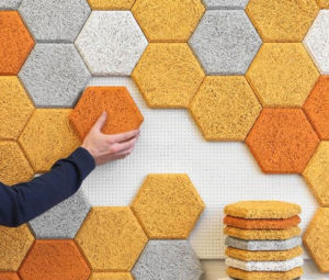 Colorful Hexagon Recycled Rubber Flooring Tile pictures & photos