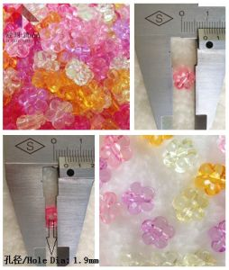 Fashion Jewelry, Transparent Beads (little flower)