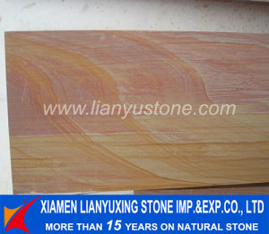 Red Teakwood Rainbow Sandstone Slab