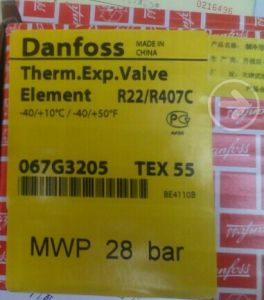 Danfoss Thermostatic Expansion Valves Tex55 (067G3205) pictures & photos
