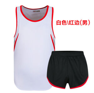 Healong Breathable Unisex Athletic Garment Stock Cheap Sports Running Uniforms pictures & photos