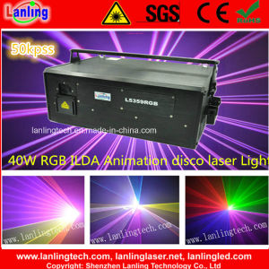 40W RGB Ilda Animation Laser Show System Disco DJ Light pictures & photos