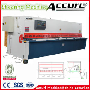 Canada CSA Safety Standards QC12y-4X3200 Hydraulic Guillotine Shearing Machine with Estun E21 System pictures & photos