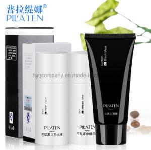 3PCS/Set Pilaten Nose Blackhead Remover Peel-Offmask+Blackhead Export Liquid + Skin Compact Essence, Black Mud Face Mask pictures & photos