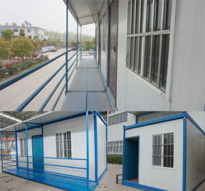 Solar Panel Double Floor Container House Apartment with Balcony pictures & photos