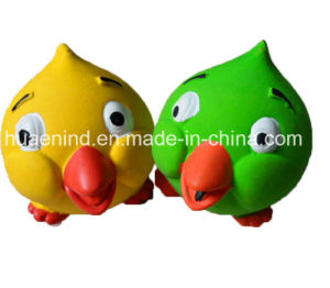 Latex Chicken Shape Head Pet Toy for Dogs (HN-PT175) pictures & photos