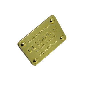 Promotional Customized Gold Plated Metal Tag Metal Label Metal Logo Plate pictures & photos