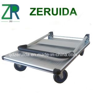 Cheap Aluminum Four Wheel Platform Hand Truck pictures & photos
