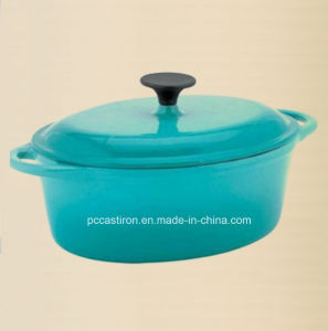 Enamel Oval Cast Iron Saucepan Manufacturer From China pictures & photos
